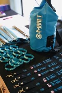 Various IMARET merchandise